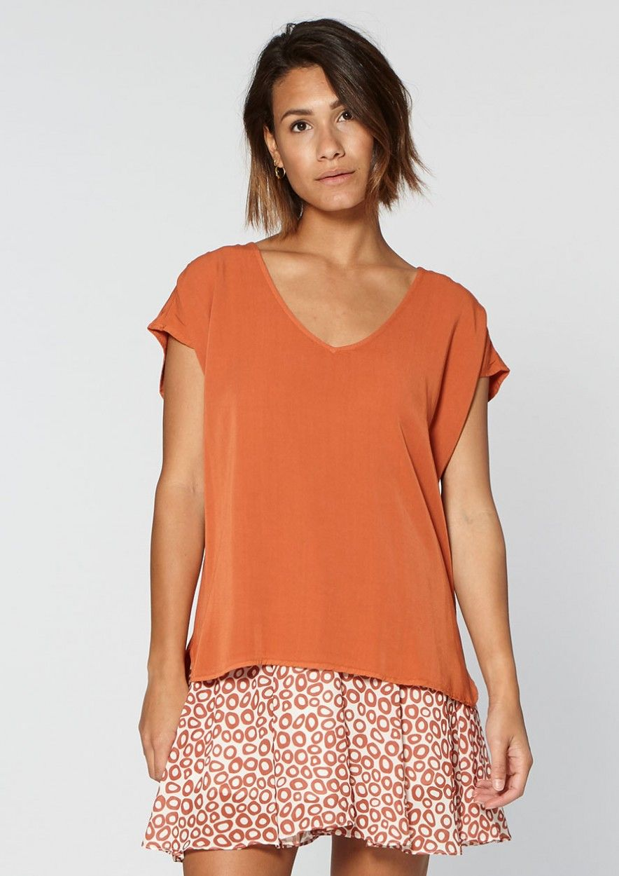 Dena Top Odd Orange