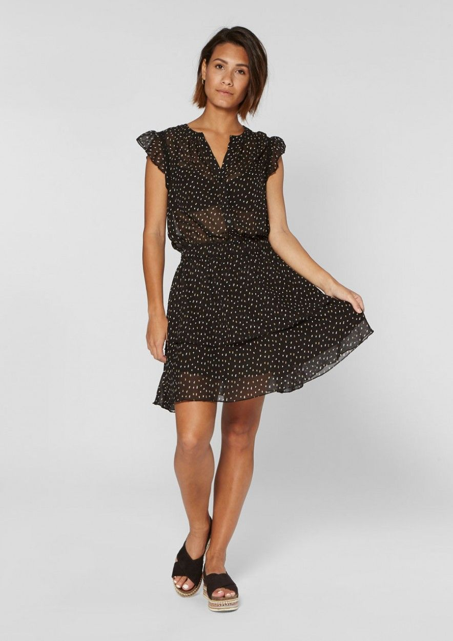Gaby Dress Dots Moss Army