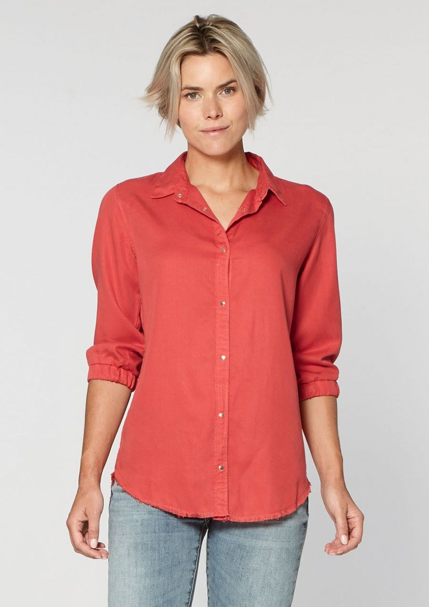 Juny Blouse Red Raspberry