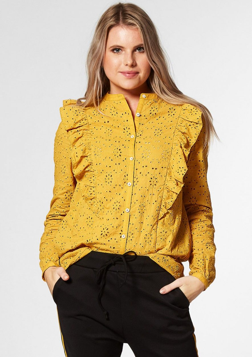 HAZEL BLOUSE DARK HONEY
