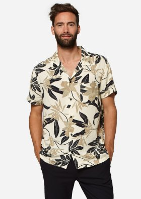Codi Crèmekleurig Hemd met Bruin-Zwarte Floral Print