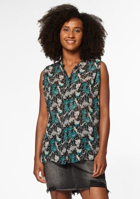 Holly Top Jungle Print